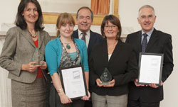 colleagues recieve Athena SAWN award