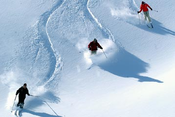 Courchevel - powder skiing